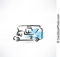 transport grunge icon