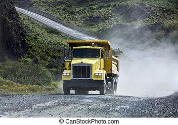 Transport - Heavy Truck - Gravel Road - Transport - A heavy...