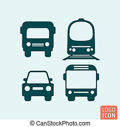 Transport icon isolated