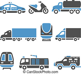Transport Icons - A set of eighth