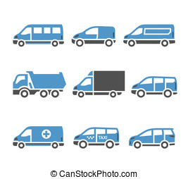 Transport Icons - A set of sixth