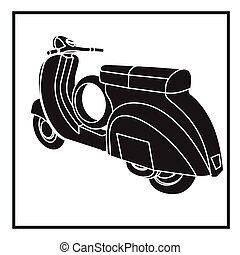 transport icons - scooter