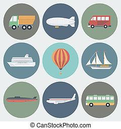Transport Icons Set