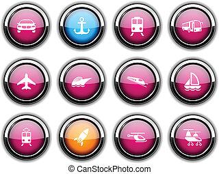 Transport icons.