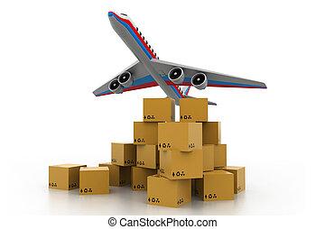 transport, international, cargaison