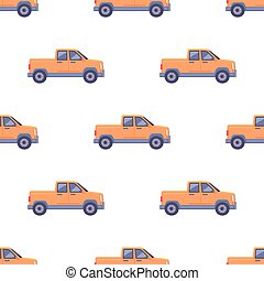 Transport Isolated Classic Pickup Seamless Pattern -...