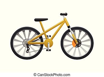 Transport. Isolated Yellow Modern Sport Bicycle - Transport....