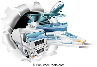 Transport Logistics Cargo Concept