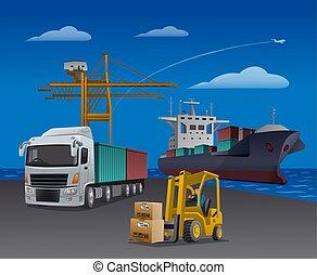 transport, logistique, port
