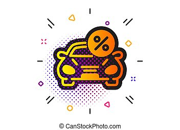 transport, louer, prêt, cent, vecteur, signe., voiture, icon.