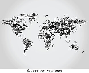 Transport map - map made of the industry. A vector...