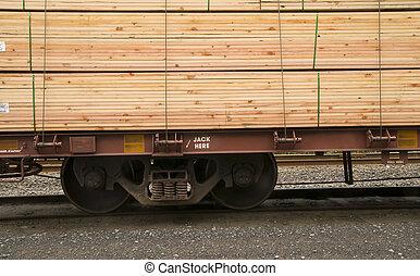 transport, matta, godsvagn, lufsa, bil, lastat, järnväg, ...