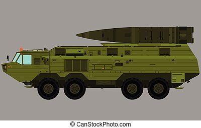 transport missile launcher truck