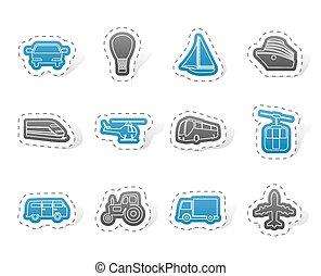 transport, og, færdes ikoner
