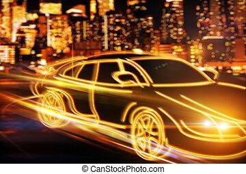 transport, og, køretøj, begreb
