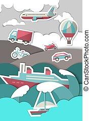 Transport paper background