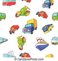 Transport pattern, cartoon style