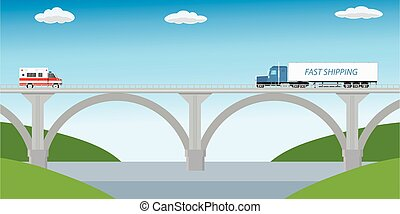 transport, pont
