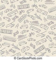 transport, seamless, baggrund