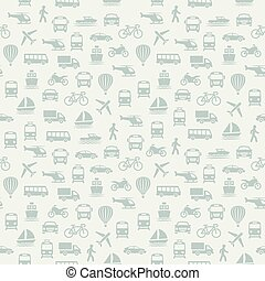 Transport seamless pattern. Background with icons.
