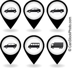 transport set of car icon