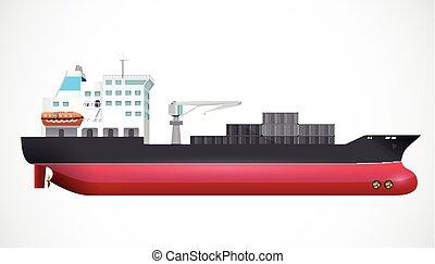 Transport ship - ocean trade - business concept