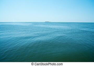 transport ship on the horizon