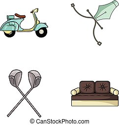 transport, sport and other web icon in cartoon style.architecture, furniture icons in set collection.