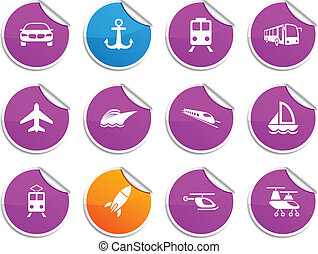 Transport stickers.