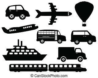 transport, symboler
