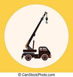 transport, thème, éléments, camion mouvement