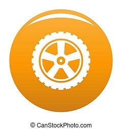 Transport tire icon orange