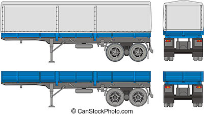 transport trailer - Available EPS-8 vector format separated...