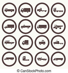 Transport truck icons