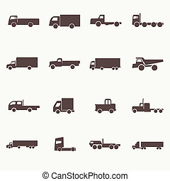 Transport truck icons. Vector illustration. Vector...