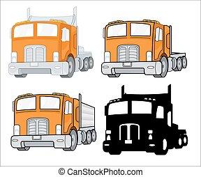 Transport Trucks Vector Designs