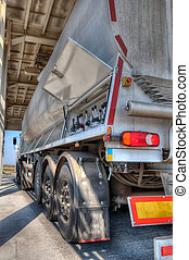 Transport tuck - Tank car and filling up to truck