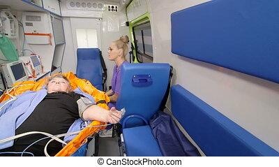 transport, urgence, fournir, monde médical, ambulance, fondamental, soin patient