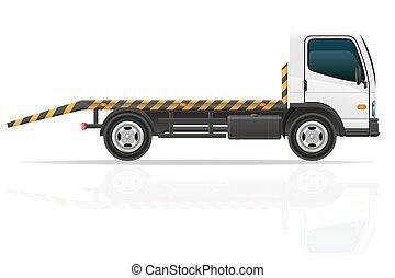 transport, urgence, voitures, remorquage, défauts, vecteur,...