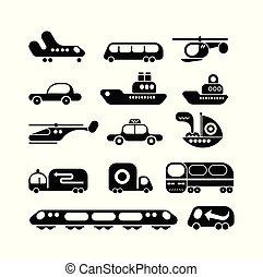 Transport vector icon set