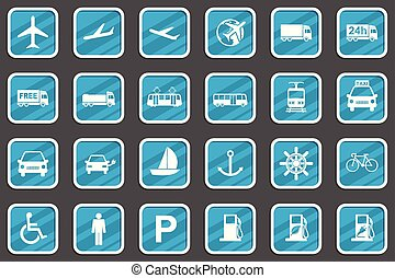 Transport vector icon set