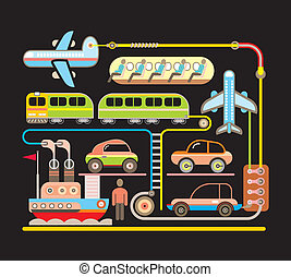 Transport - vector illustration