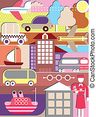 Transport vector illustration - Transportation - vector ...
