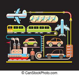 Transport - vector illustration