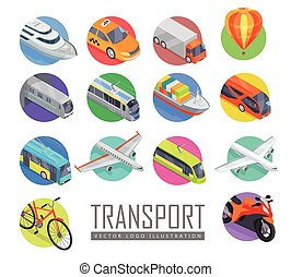 Transport Vector Logo Illustration. Set of Icons