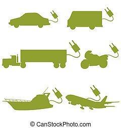 transport vehicle green vector