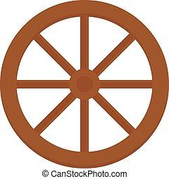 transport, vieux, bois, charrette, vecteur, vendange, ...