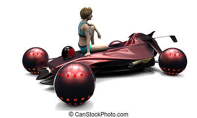 transport, voler, illustration, 00102, 3d