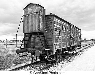 Transport wagon in concentration camp - Transport wagon used...