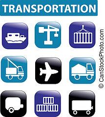 transport, zeichen & schilder
